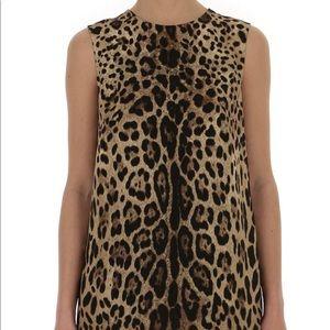 Dolce & Gabbana Leopard Print Top - Size 38 (XS/S)
